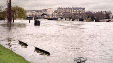 Jardin Tino Rossi, crue de la Seine 2001 (photo Isabelle Haerdter)